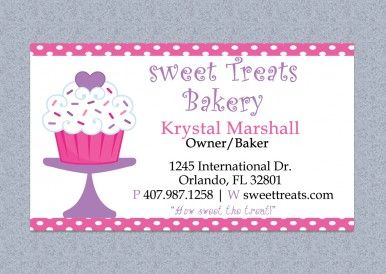 Printable And Editable Microsoft Word Bakery Business Card Template