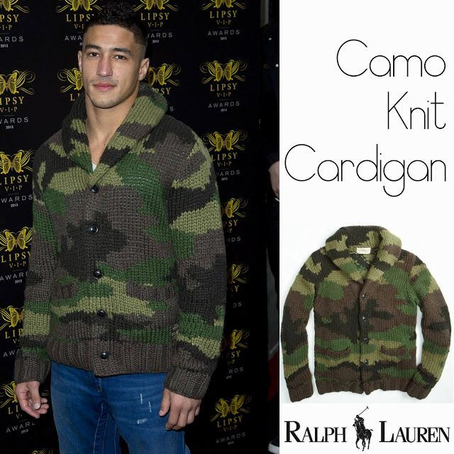 Male Fashion Trends: Ashley McKenzie y su Camo Knit Cardigan de Ralph Lauren