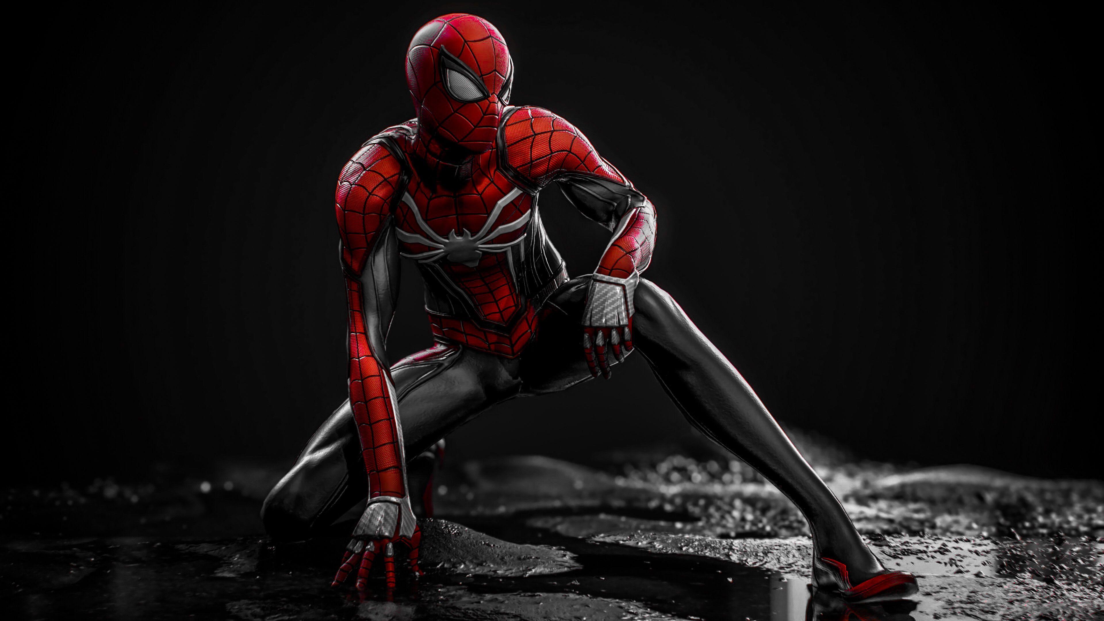 Spiderman PS4 red edit 3 Hombre araña comic, Amazing
