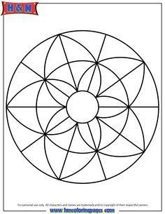 simple-mandala-coloring-page-printout | Myself | Mandala coloring