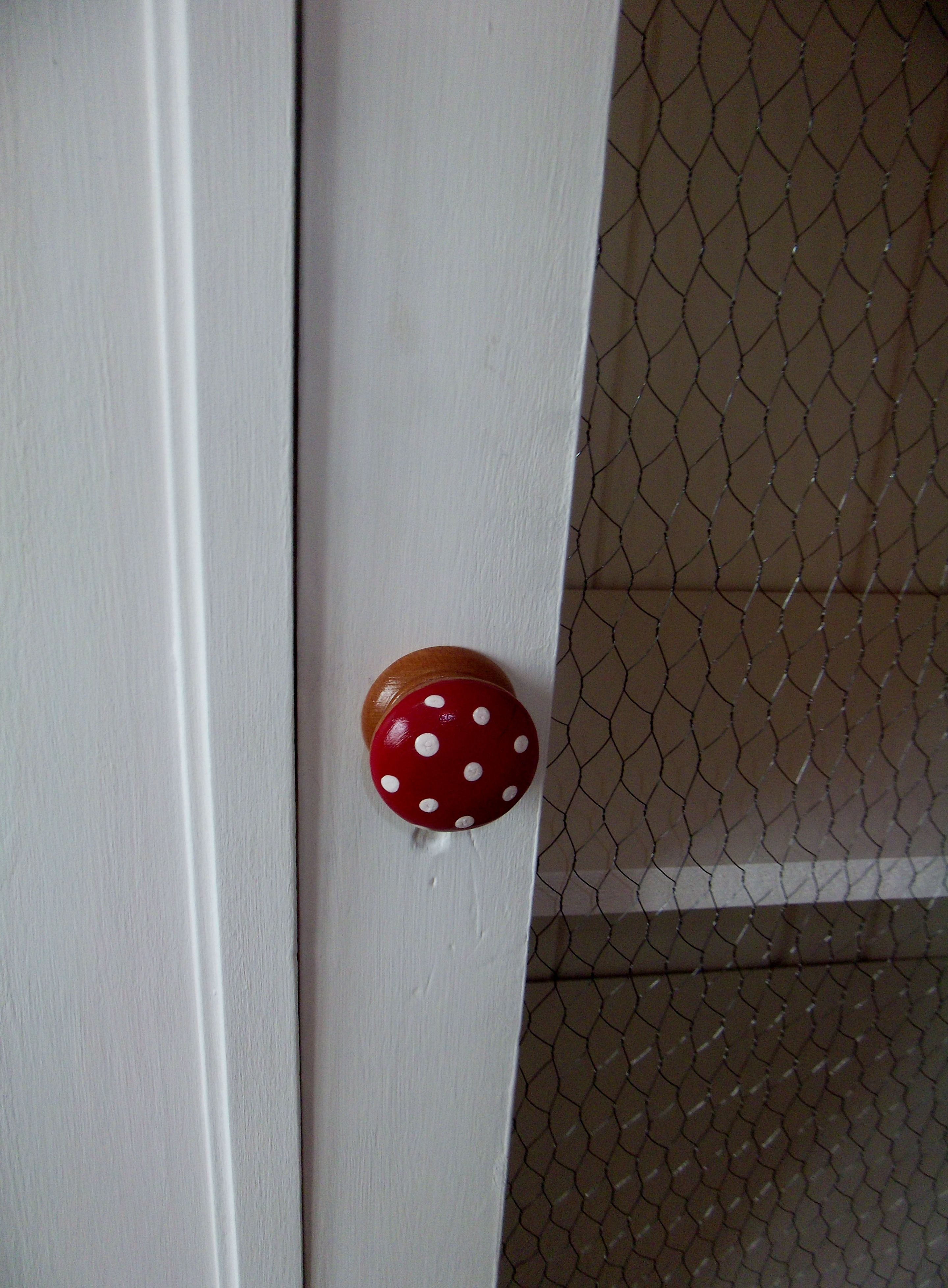 Toadstool knobs for woodland nursery oh my lawd how cute are