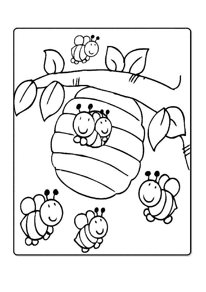 arı boyama sayfası - duvar kağıtları   coloriage abeille
