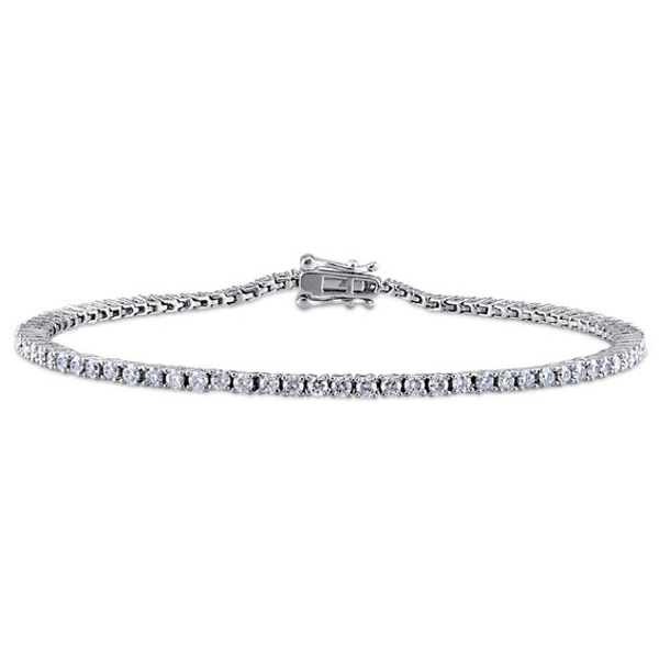 2 Ct T W Diamond Tennis Bracelet In 10k White Gold 7 25 Tennis Bracelet Diamond Tennis Bracelet White Gold