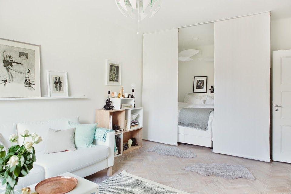 bett mit vorh ngen abtrennen wohnung umgestalten pinterest vorh nge bett und getrennt. Black Bedroom Furniture Sets. Home Design Ideas