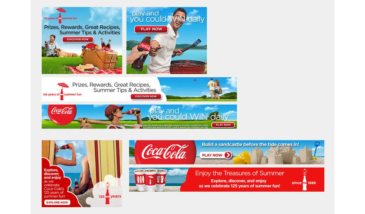 coca cola banner ads marketing banners display ads pinterest email design