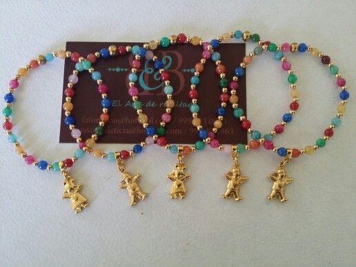 ed34a4eb95c0 Pulsera jades y oro laminado