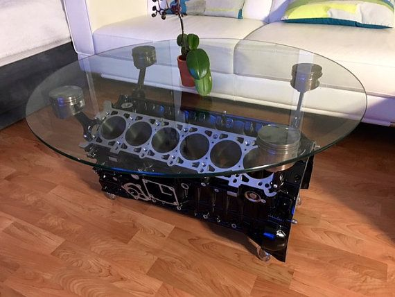 Mercedes V Engine Coffe Table Automotive Collectibles - Motor coffee table