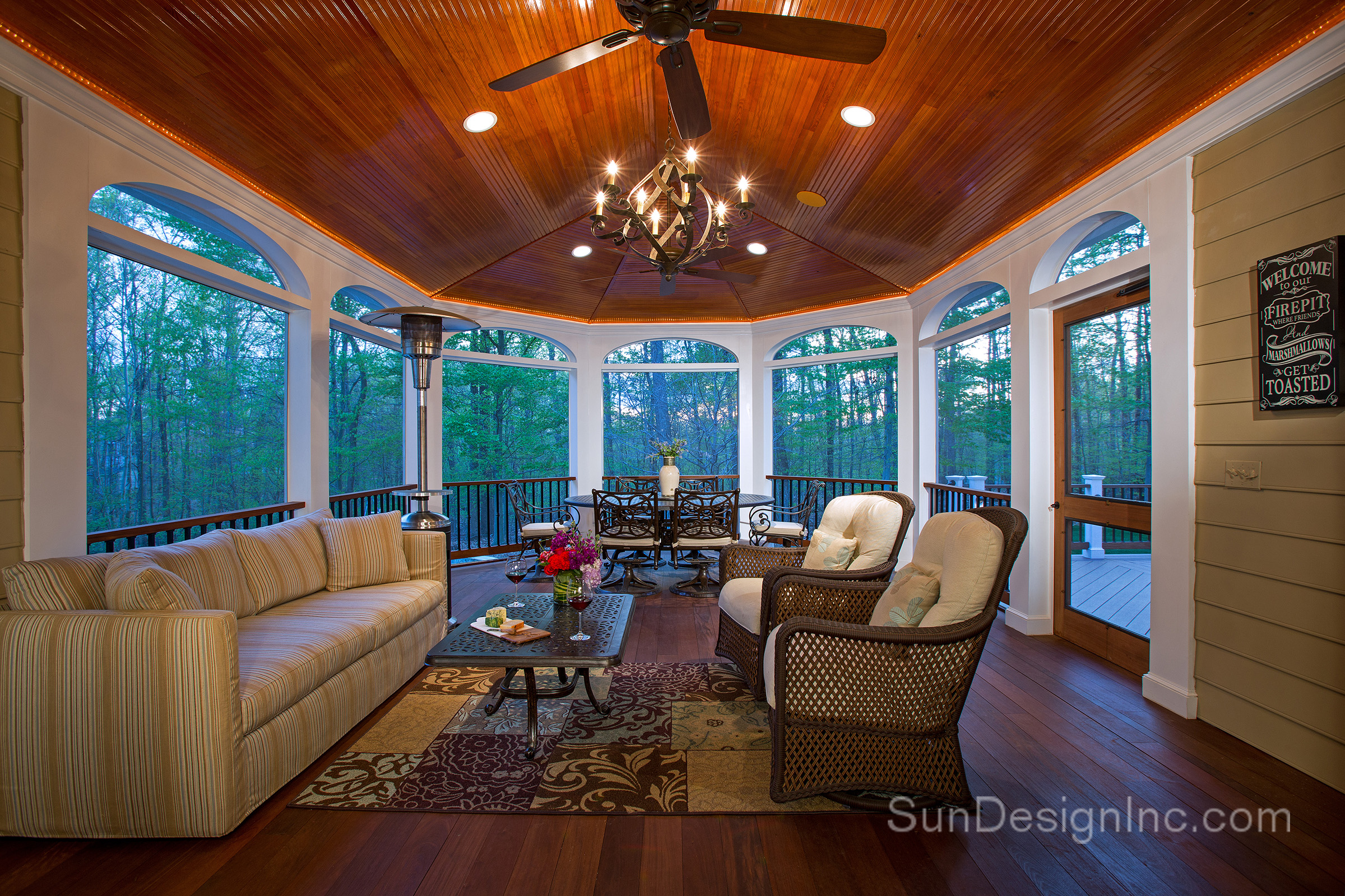 Screened Porch Addition to Rear of Home | Sun Design Remodeling ...