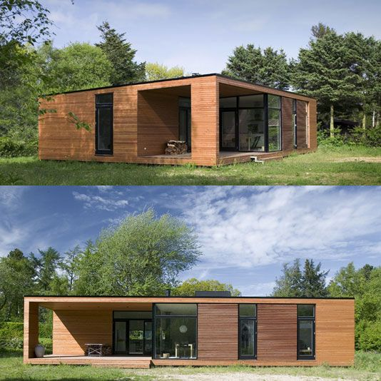 Container Haus Deutschland Prefabricated House Bungalow: I Love Wood! - ONV Architekti Bugalov