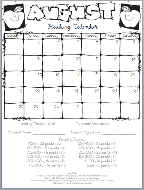 Calendar Reading Worksheets : My to do list and a new school box winner i could use