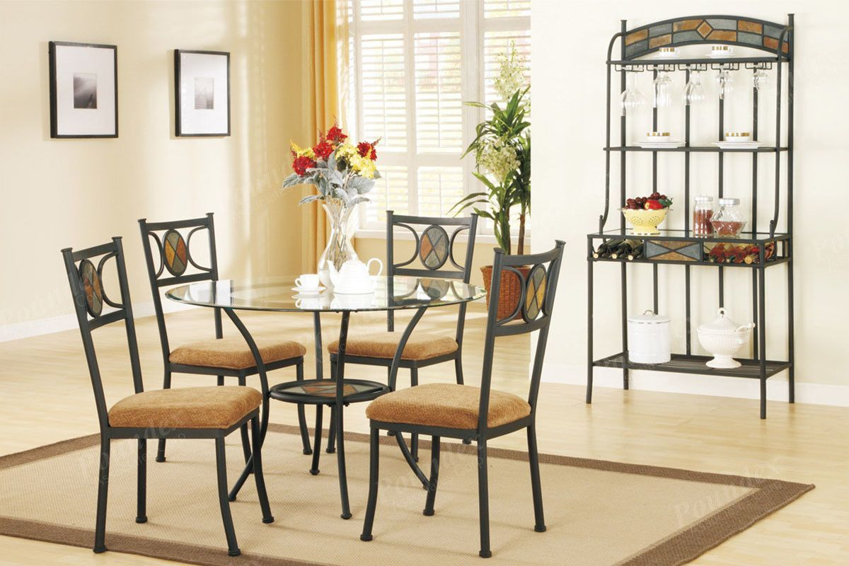 Poundex arm chair u dining chair f piece products