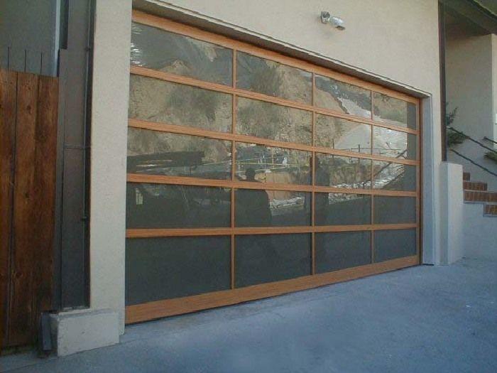 brown and glass garage door glass garage doorsliding garage doorsgarage