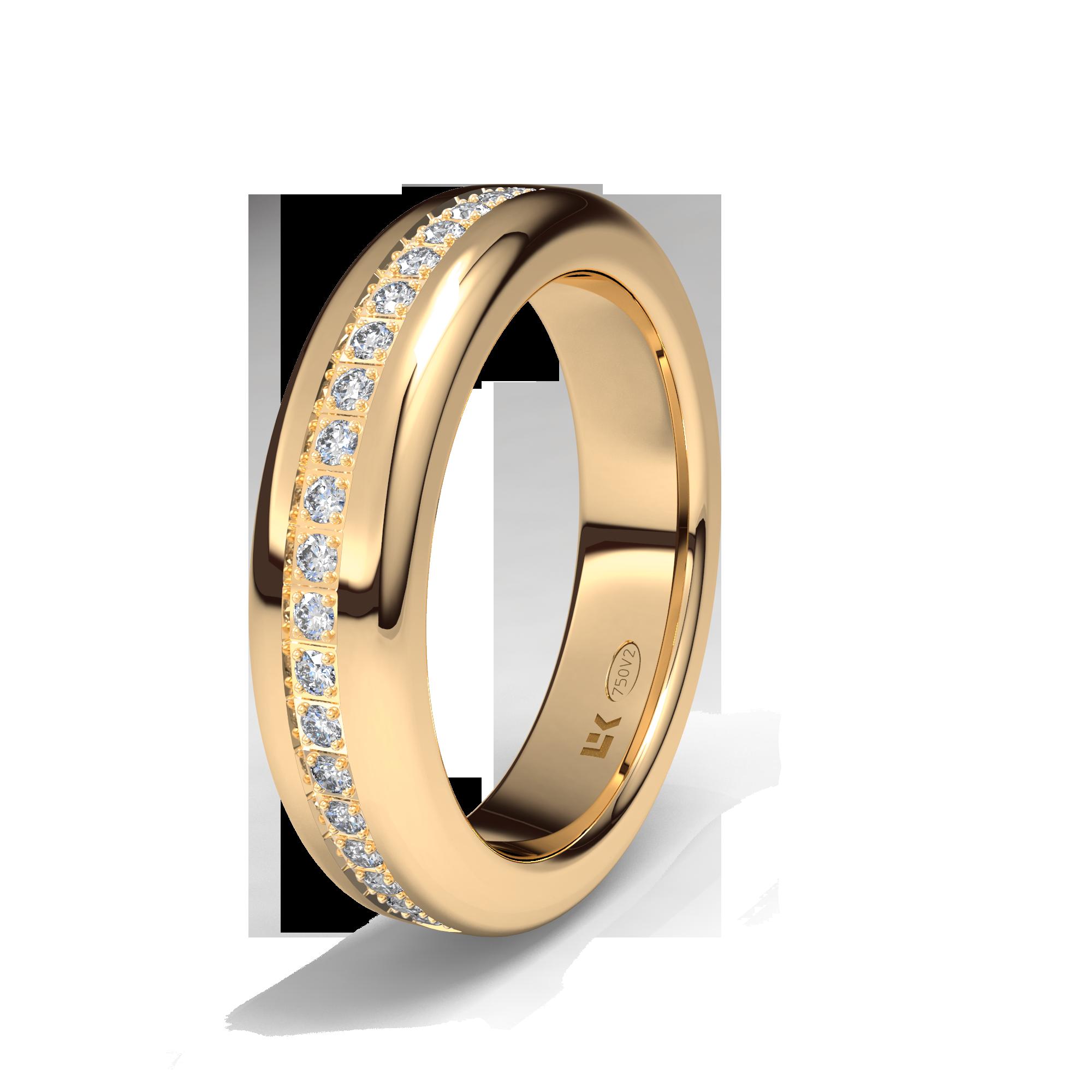 1f486d7b2698e Sortija de oro rojo de 18K modelo Semi rectangular bodas  alianzas  anillos   sortijas  diamantes  brillantes  novia