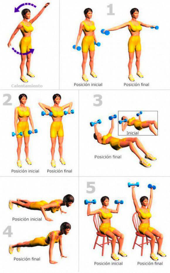 ejercicios en piscina para adelgazar brazos