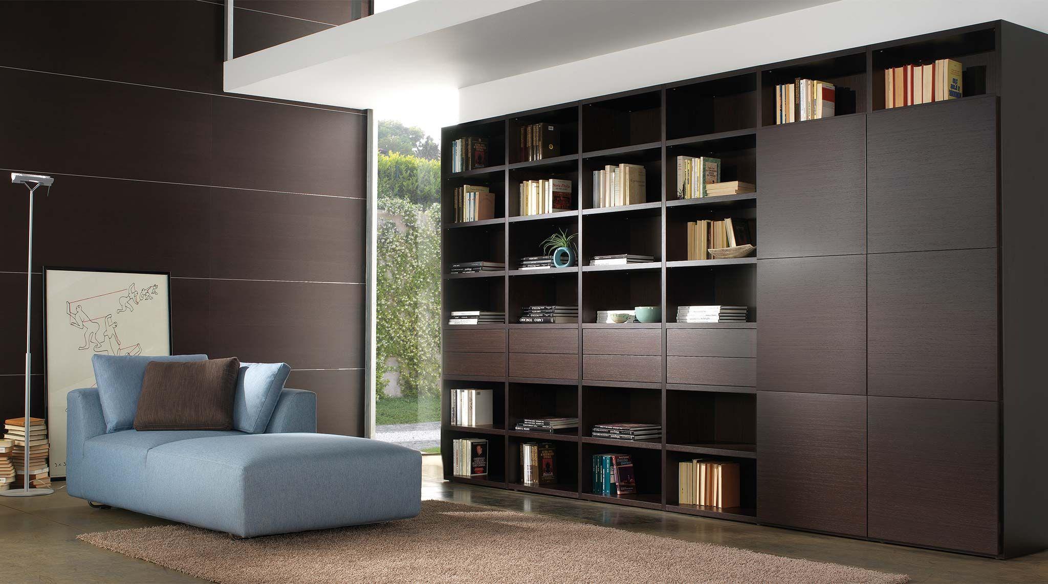 Libreria In Legno Componibile Wood Arredamento Librerie E