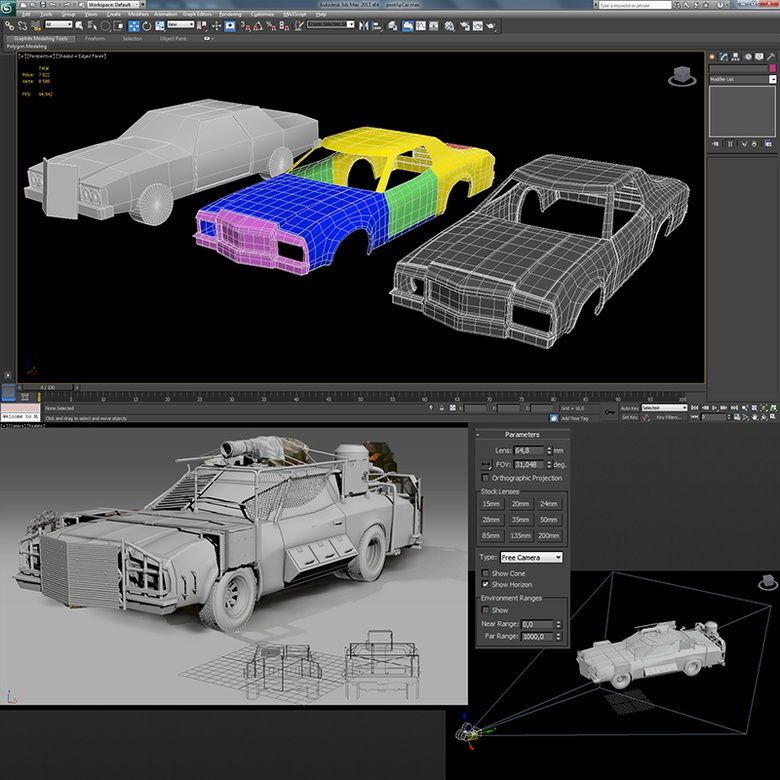 Create A Sci Fi Car In 3ds Max Part 1 3ds Max Tutorials 3ds
