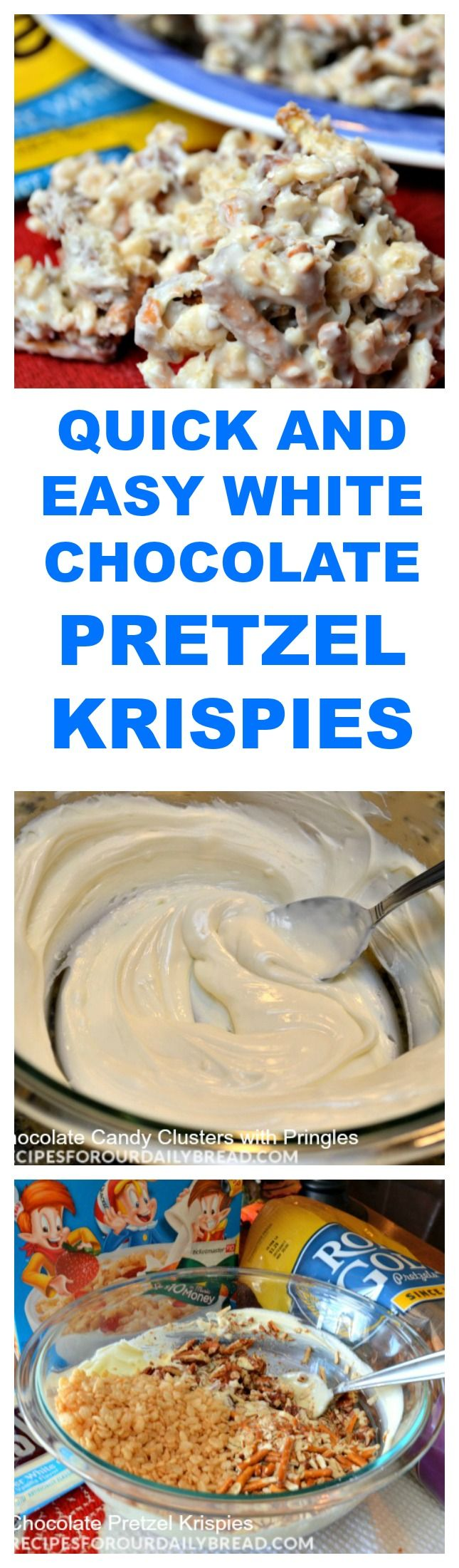 QUICK AND EASY WHITE CHOCOLATE PRETZEL KRISPIES