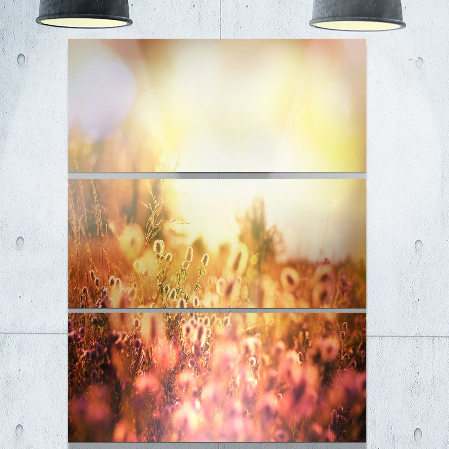 Designart \'Scenic Meadow over Mountains\' Extra Landscape Glossy ...