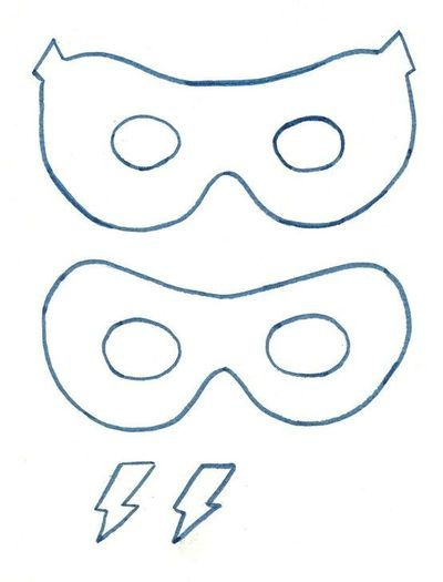 Superhero Mask Template  Preschool Crafts    Mask