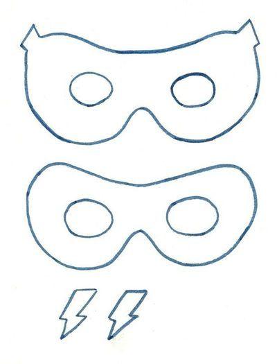 Superhero Mask Template  Preschool Crafts    Mask