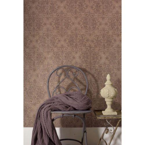 Beautiful Details Zu Vliestapete Mit Glitter Muster Tapete Ornament Textil Design  Barock Shabby Braun