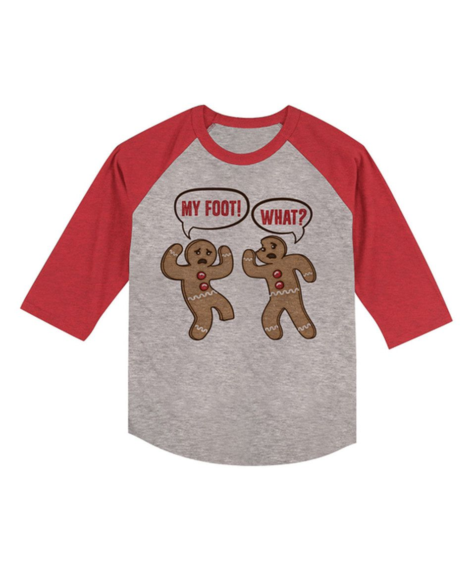 This Red Heather \'My Foot!\' Raglan Tee - Toddler & Kids by jiminy ...