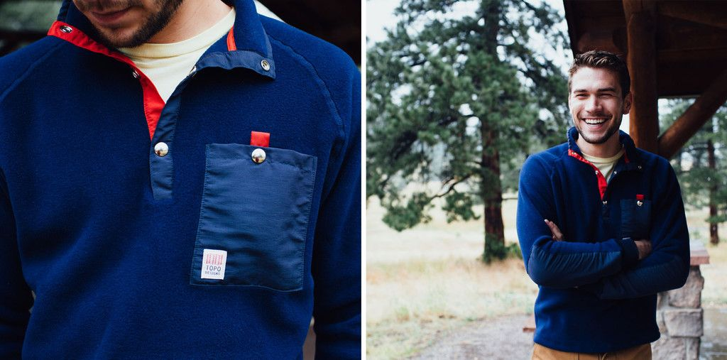 Topo Designs Fleece Jacket | Navy | Keep warm and look sleek in ...