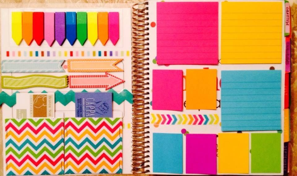 Use post-its on notes page to keep running todo/to buy lists