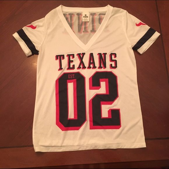 Houston Texans Jersey Victoria s Secret Pink Worn once. Victoria s Secret Pink  jersey. Houston Texans. Size medium. ✨ Always open to reasonable offers and  ... 86248bc4c48b