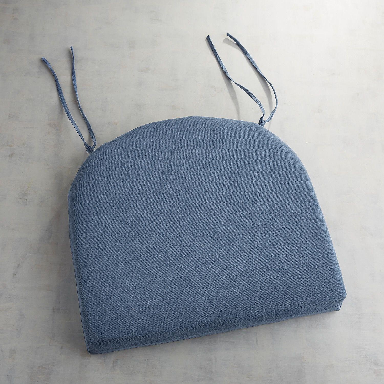 Dining Chair Cushion In Calliope Denim Blue