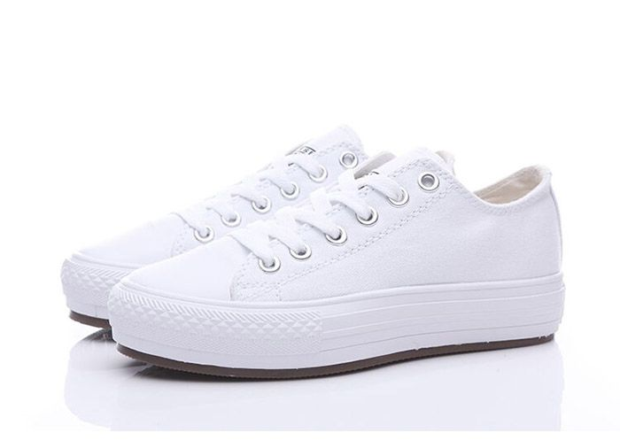 All White Converse Chuck Taylor All Star Women Platform Shoes