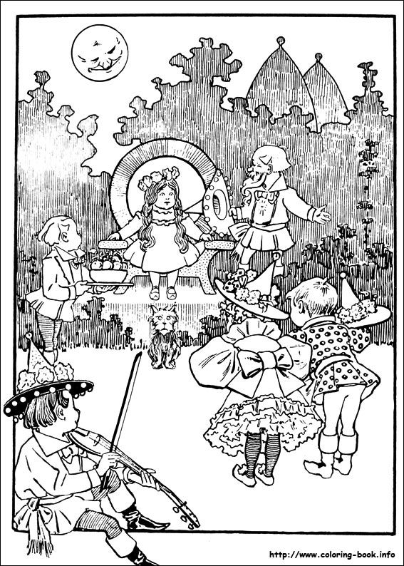 The Wizard of Oz coloring picture | Wizard of Oz | Pinterest