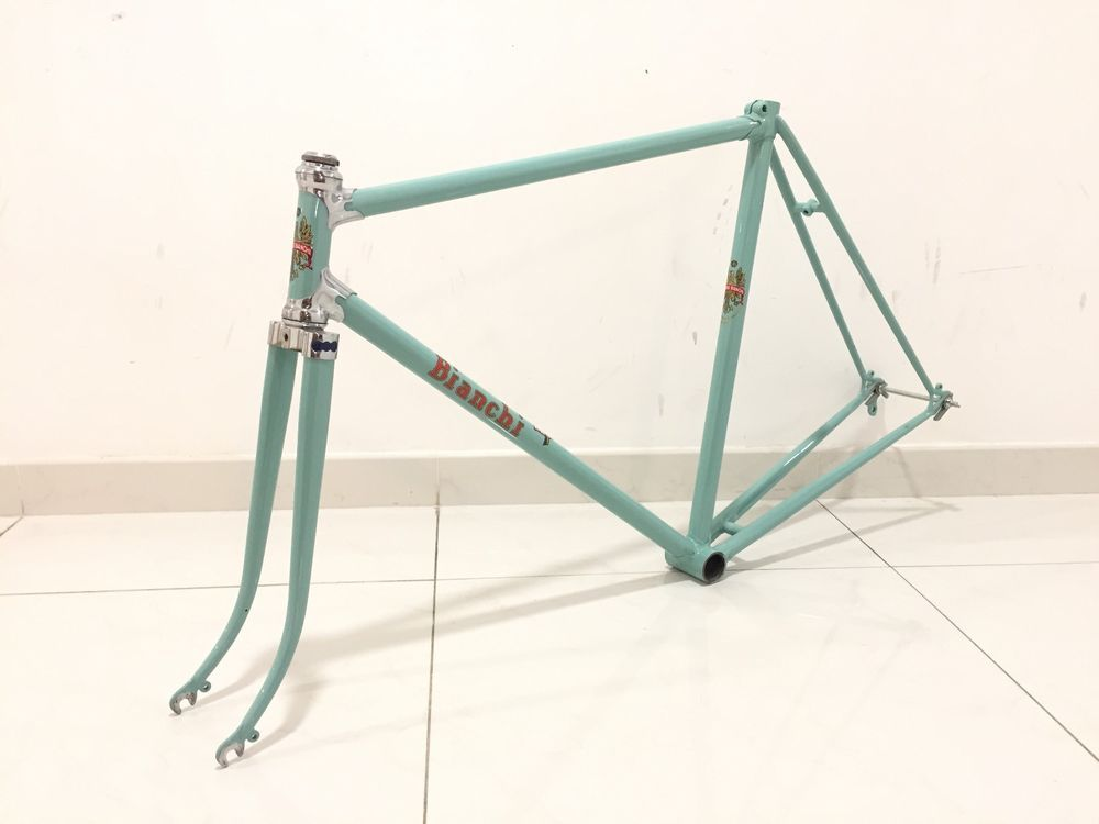 Bianchi Freccia Steel Bicycle Frame 1953 bike Frameset Campagnolo ...