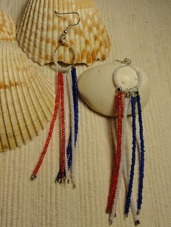 Patriotic jewelry red white and blue by SparklingAccessories, $12.99