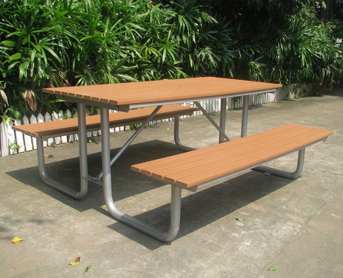 Tremendous Recycled Plastic Wood Outdoor Picnic Table And Benches View Inzonedesignstudio Interior Chair Design Inzonedesignstudiocom