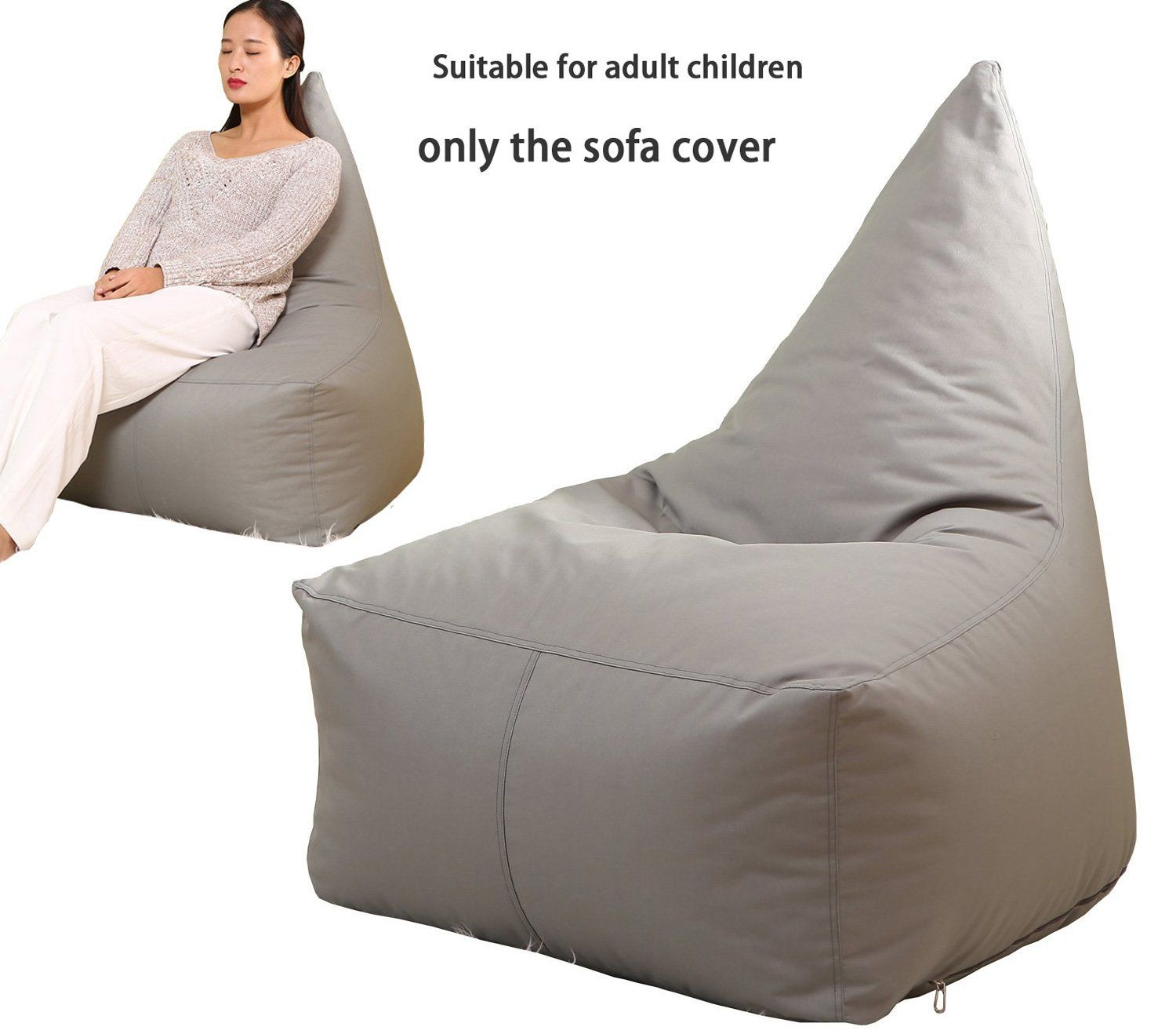 QuWei Bean Bags Chair Triangel Creative