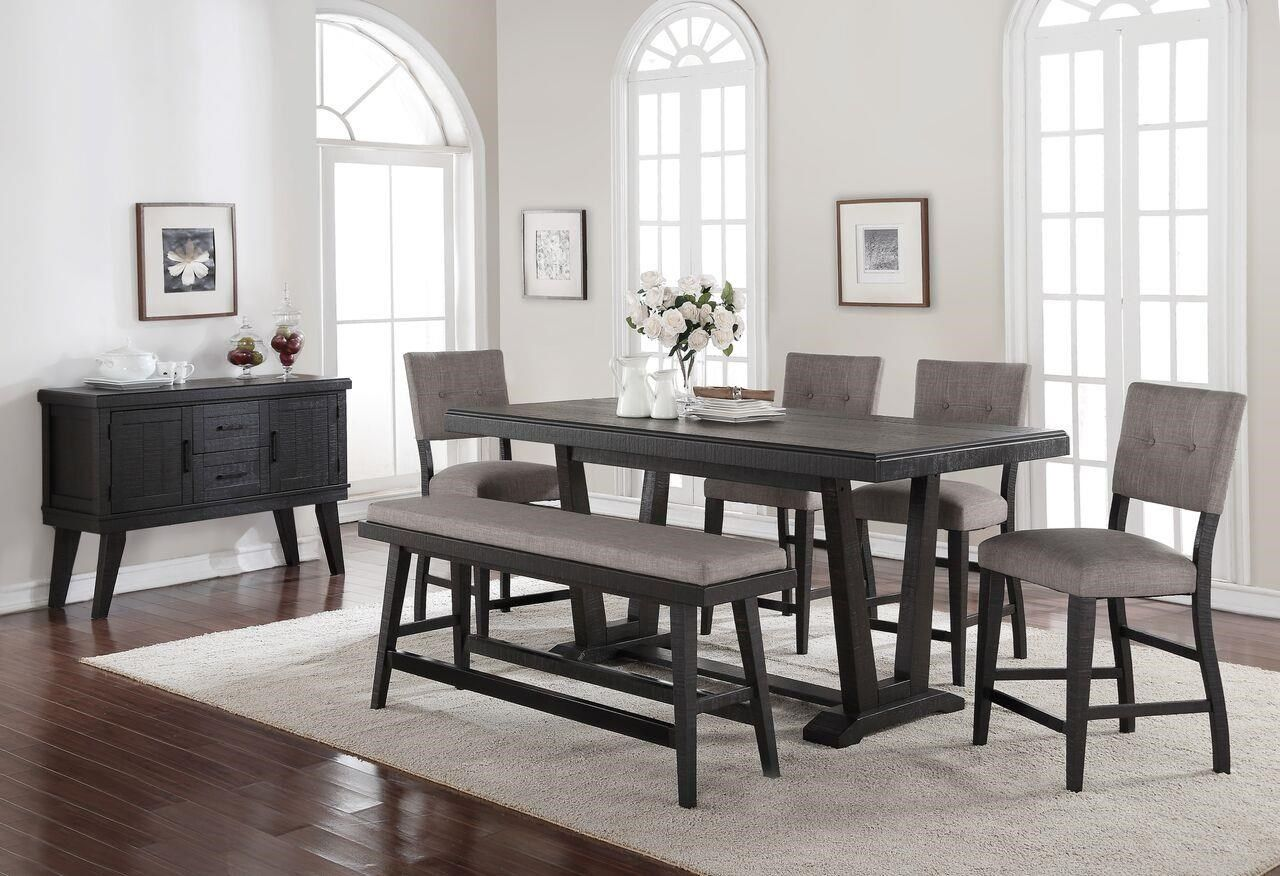 39+ Grey dining table with bench Best Seller