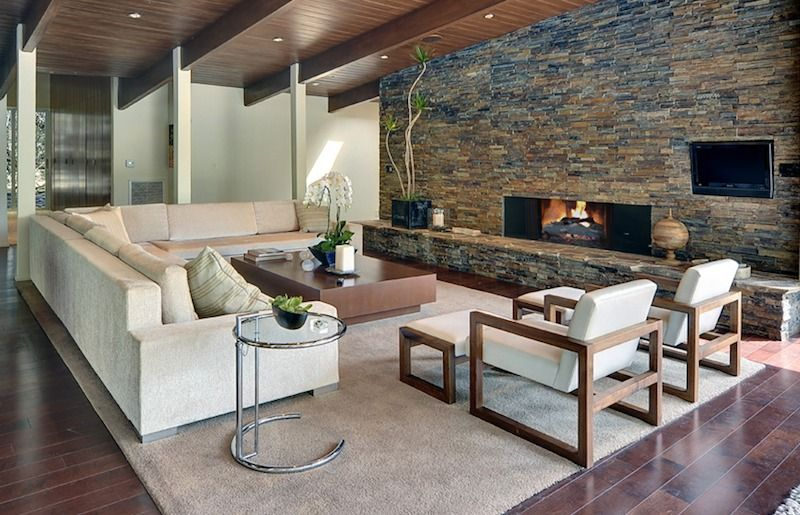 casual modern rustic living rooms | combination of modern chairs ...