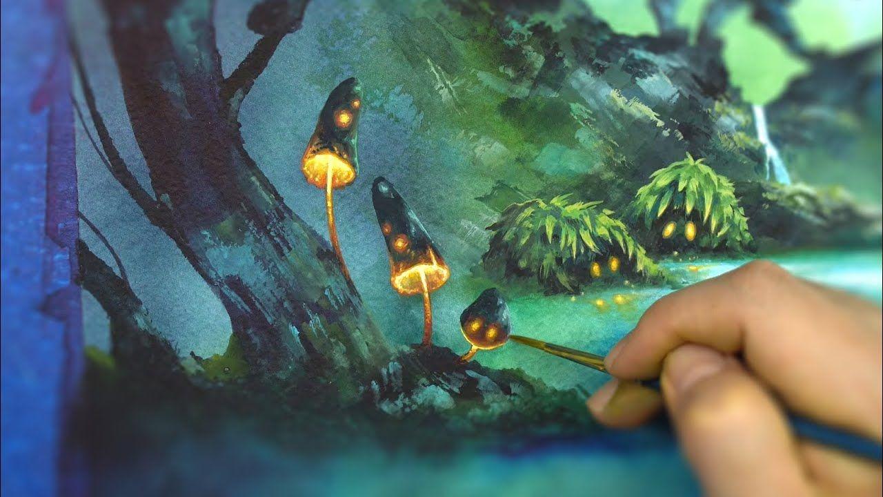 Watercolor Art Of Book Illustration Speedpainting Erudaart No42