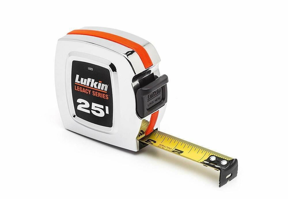 "Lufkin L925 Legacy Series Tape Measure, 1"" x 25', Chrome"