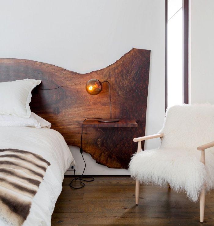 design intérieur style rustique dans une chambre à coucher ...