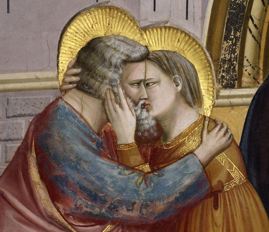Particolare della cappella degli Scrovegnii Giotto 1303-1305 Affresco
