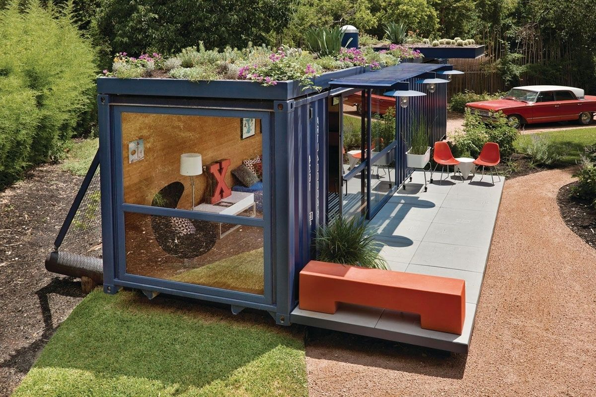 Shipping Container Pool House In Shipping Container Pool House