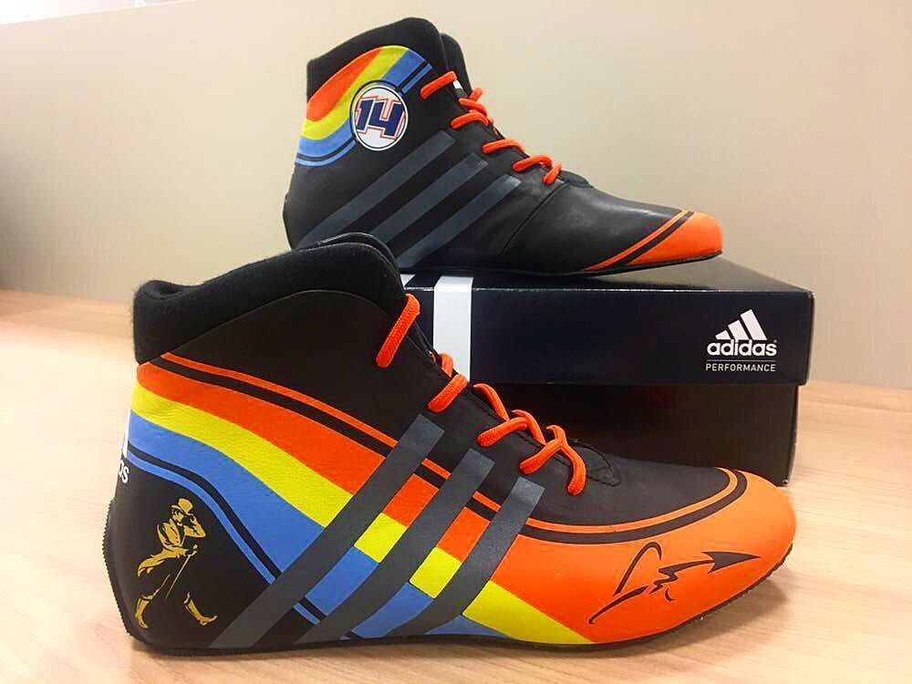 Fernando Alonso s Formula 1 Racing Shoes by Adidas  6885372369fc