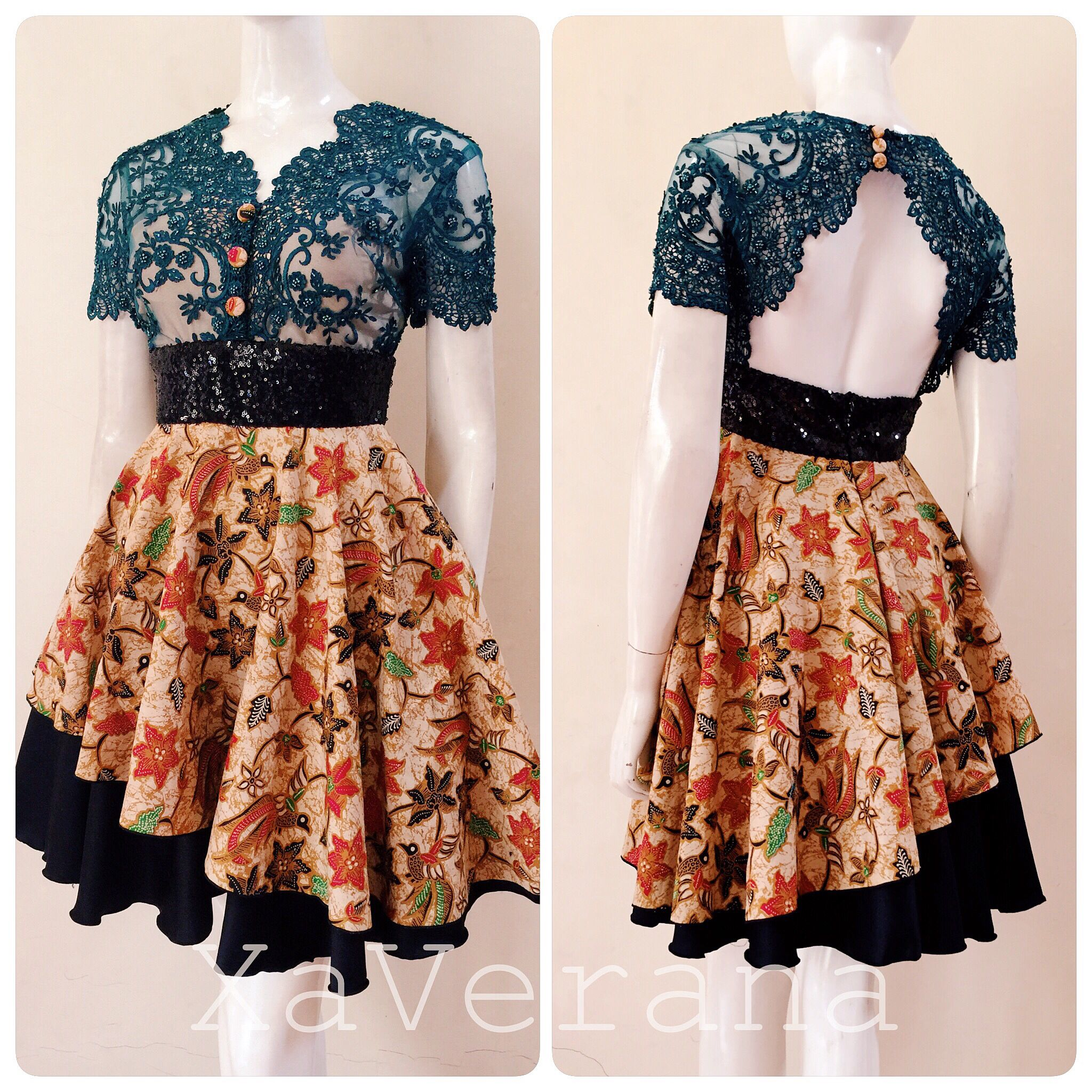 Batik dress  Instagram xaverana KEBAYA BY XaVerana