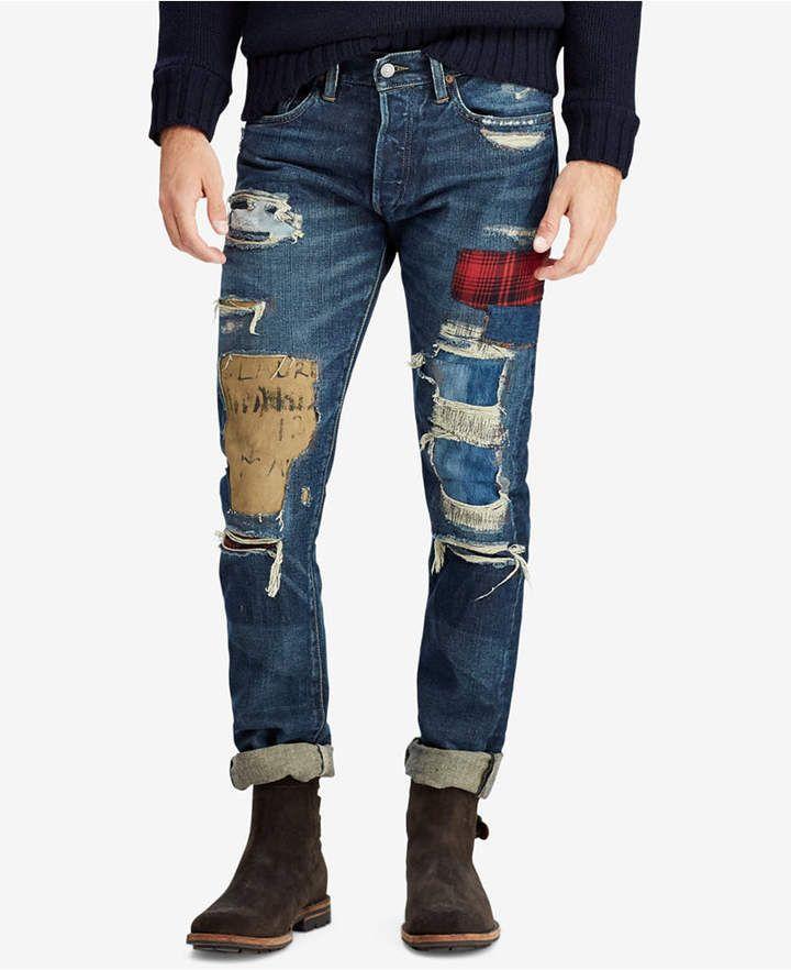 5d4a59f7d5d4c Polo Ralph Lauren Men s Distressed Sullivan Slim Cotton Jeans