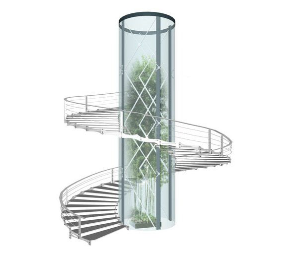 Best Autocad Curved Stair Block Google Search Staircase 400 x 300