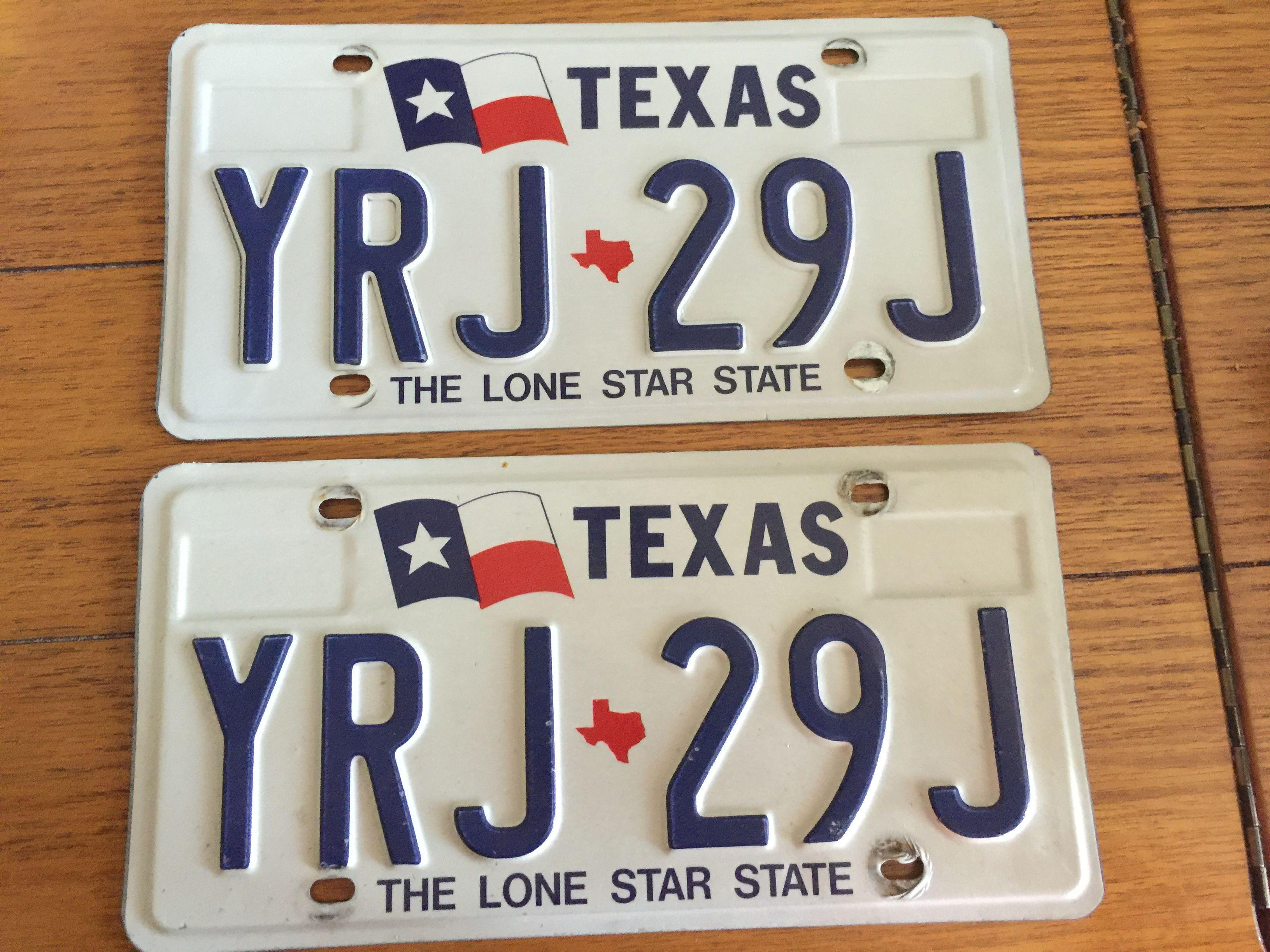 Texas Vintage Lone Star (pair) | License Plates | Pinterest | Texas