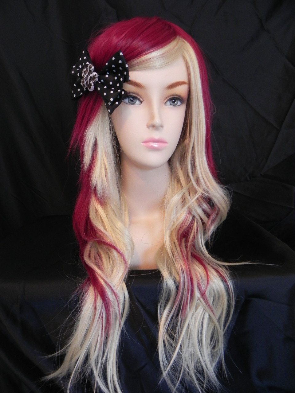 On sale strawberry cheesecake auburn red and blonde long curly