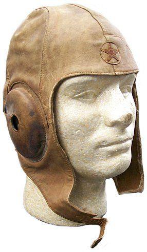 Japanese Summer Leather Flight Helmet With Star Marks Steampunk Mask Helmet Hat Aviator Hat